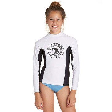 Billabong Big Girls' Surf Dayz Rashguard, White