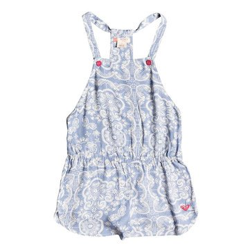 Roxy Big Girls' Salt Memory Print Romper Coverup, Blue Shadow