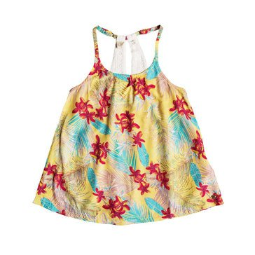 Roxy Big Girls' Light Tonight Print Woven Top, Sunshine Flowers