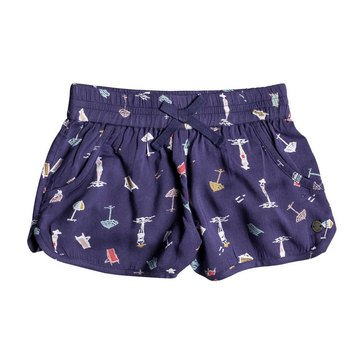 Roxy Little Girls' Meet Me In The City Woven Short, Deep Cobalt
