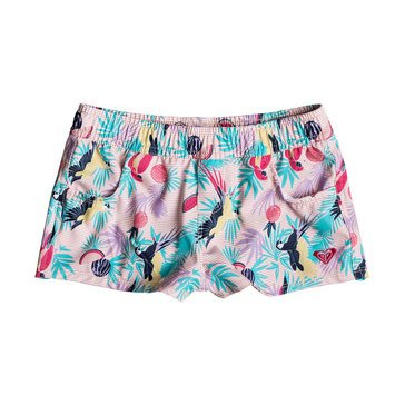 Roxy Little Girls' Vintage Tropical Boardshort, Tropical Peach