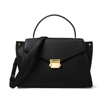 Michael Kors Whitney Group Large Top Handle Satchel Black