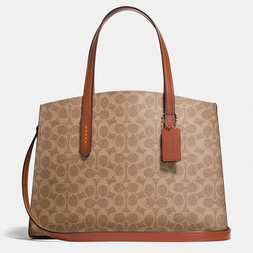 Coach Charlie Carryall Rust