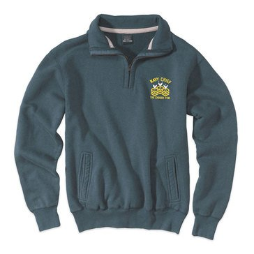 The Game Men's Pro-Weave Vintage Navy Chief Pullover in Marine