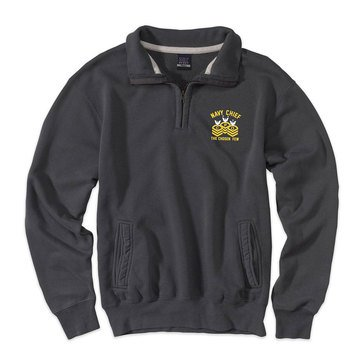The Game Men's Pro-Weave Vintage Navy Chief Pullover in Vintage Granite