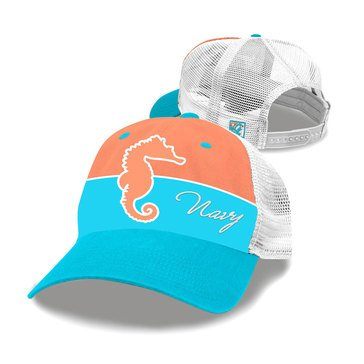 The Game Youth Trucker Mesh USN Hat With Seahorse