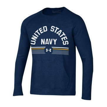 Under Armour Men's Aviator Waffle Crew Tee with USN Design