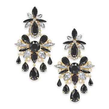 Kate Spade New York Glitzville Chandelier Earrings Black Multi