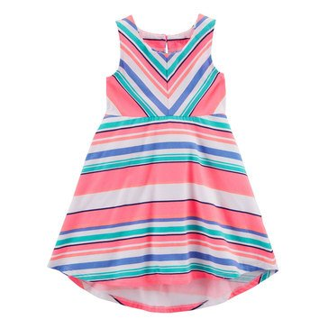 Carter's Girls' Sleeveless Stripe Knit Dress