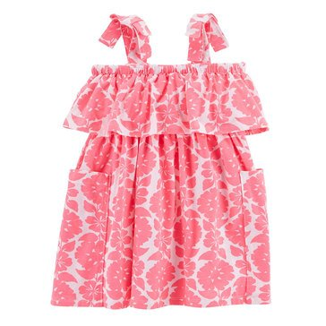 Carter's Girls' Tiered Knit Dress, Printed