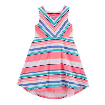 Carter's Toddler Girls' Multi Stripe Knit Dress