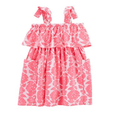 Carter's Toddler Girls' Tiered Print Knit Dress