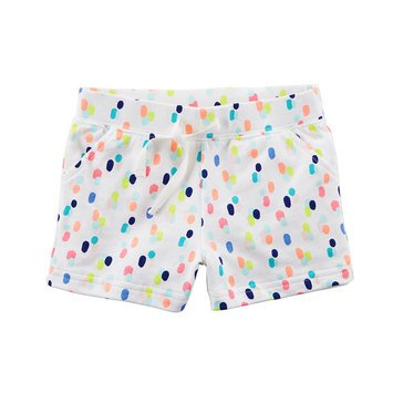 Carter's Toddler Girls' All Over Dot Printed French Terry Shorts