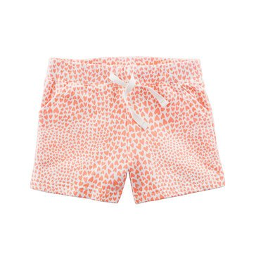 Carter's Toddler Girls' Heart Print French Terry Shorts