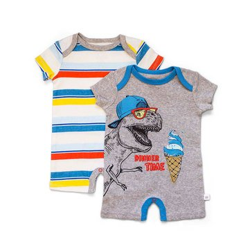 Rosie Pope Baby Boys' 2-Pack Short Coverall, Party Animal