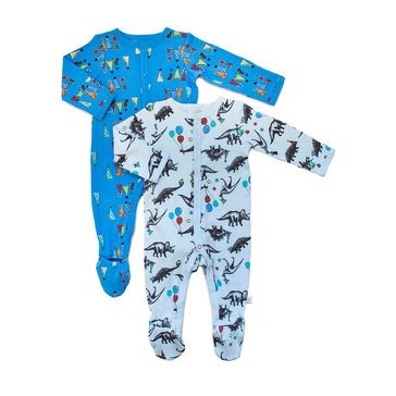 Rosie Pope Baby Boys' 2-Pack Coverall Set, Party Animal