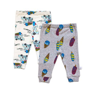 Rosie Pope Baby Boys' 2-Pack Pant Set, Party Animal
