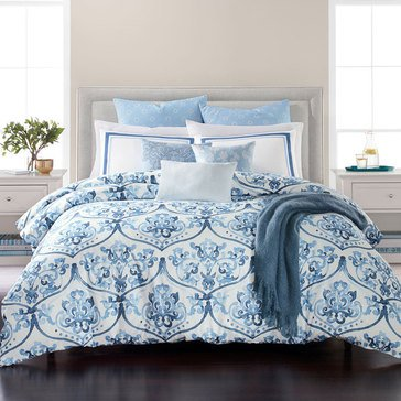 Martha Stewart Victoria Blue 10-Piece Comforter Set - Queen