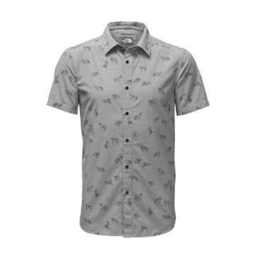 The North Face Men's Short Sleeve Bay Trail Woven Button Down Shirt