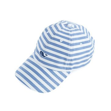 Vineyard Vines All Over Stripe Baseball Hat In Moonlight Blue