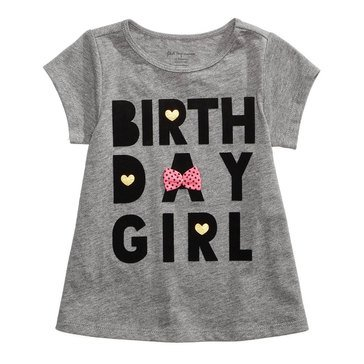 First Impressions Baby Girls' Birthday Girls' Tee, Pewter Heather