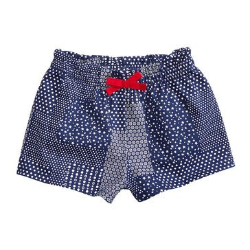 First Impressions Baby Girls' Patchwork Shorts, Medieval Blue