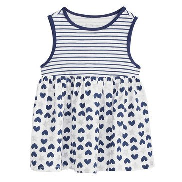 First Impressions Baby Girls' American Stars Tunic, Bright White