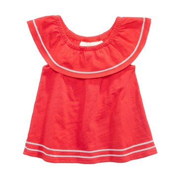 First Impressions Baby Girls' Flounce Knot Tunic, Lollipop
