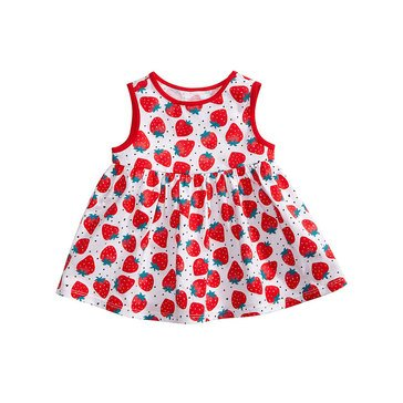 First Impressions Baby Girls' Strawberries Tunic, Bright White