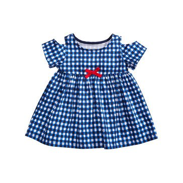 First Impressions Baby Girls' Gingham Tunic, Medieval Blue
