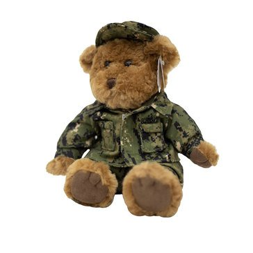 MCM USN Type III Green Digi Plush Brown Bear