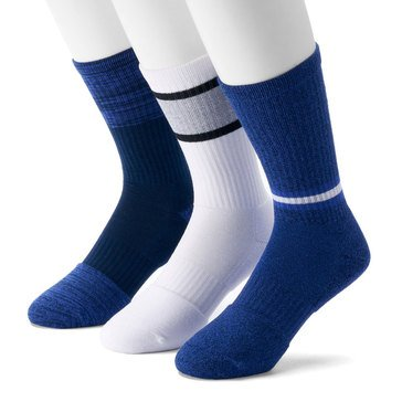 Under Armour Men's Phenom Twisted 3-Pack Crew Socks- MED