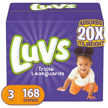 Luvs Giant Pack Diaper Size 3 168ct