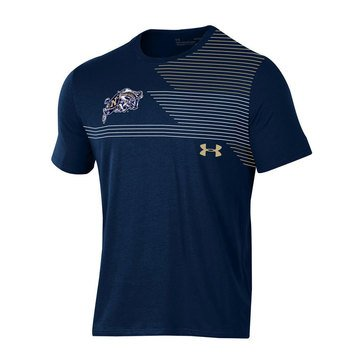 Under Armour Men's Naval Academy Rams MTO Freestyle Caron Short Sleeve Tee Navy