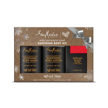 Shea Moisture African Black Soap Holiday trio Gift Set