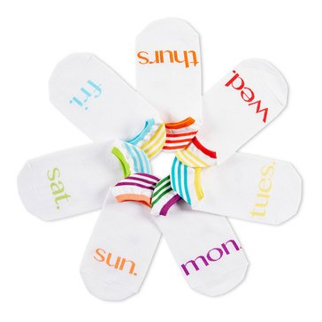 Hue Women's 7-Pack Sock of the Day Liner Socks