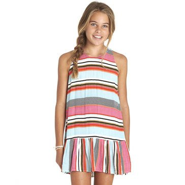 Billabong Big Girls' Striped Woven Tank Dress, Blue