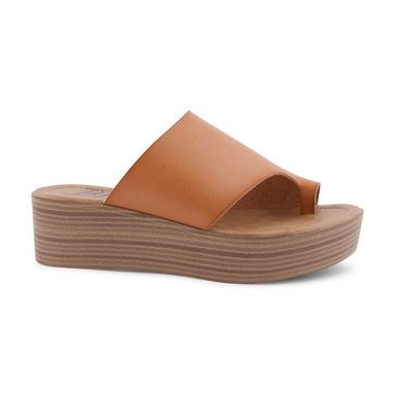 Blowfish Laslett Wedge Toe Ring Sandal Desert Sand