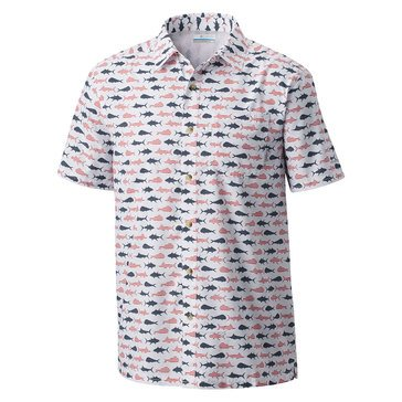 Columbia Men's Super Slack Tide Woven Button Down Camp Shirt