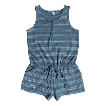 Roxy Big Girls' Summer Awakening Romper, Blue