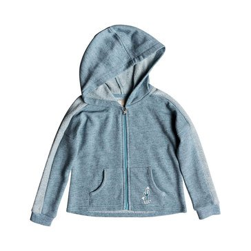 Roxy Little Girls' As We Wish Zip Hoodie, Storm Blue
