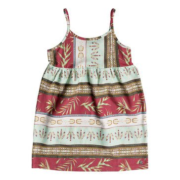 Roxy Little Girls' Higher And Higher Printed Dress, Off White