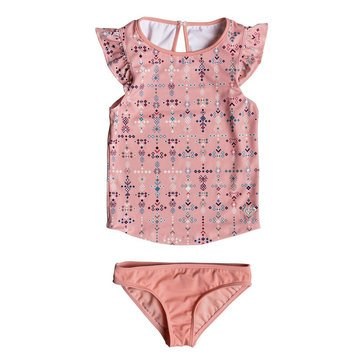 Roxy Little Girls' Boho Baby Tankini Swim Set, Peaches N' Cream