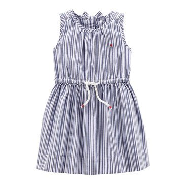 Carter's Little Girls' Stripe Woven Dress