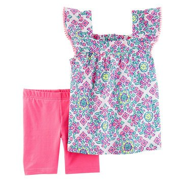 Carter's Little Girls' 2-Piece Gauze Shorts Set