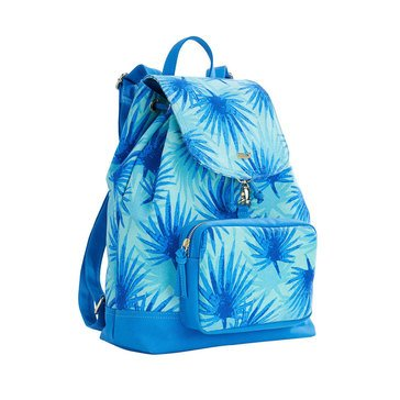 Vineyard Vines Palm Print Backpack In Aquamarine