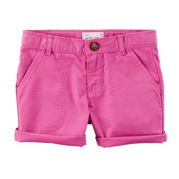 Carter's Little Girls' Twill Shorts, Purple