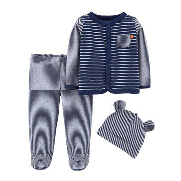 Carter's Baby Boys' 3-Piece Footed Set