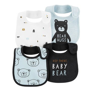 Carter's Baby Boys' 4-Pack Bibs Set