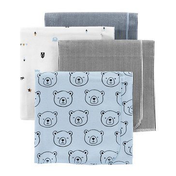 Carter's Baby Boys' 4-Pack Receiving Blankets
